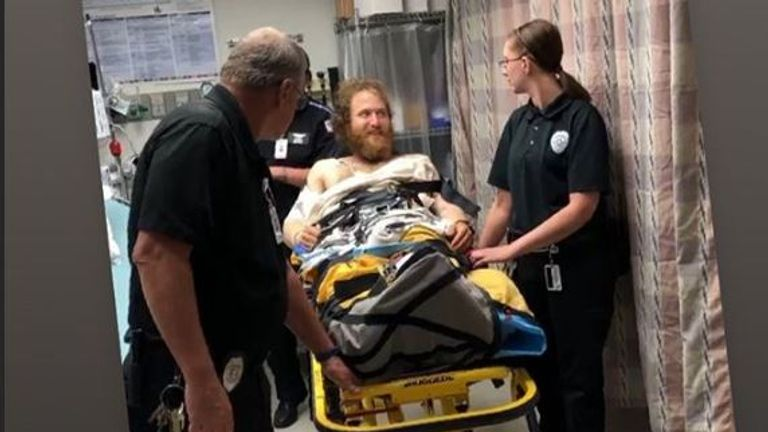 Mike Posner says he was airlifted to hospital after being bitten by a rattlesnake. Pic: Instagram/@mikeposner