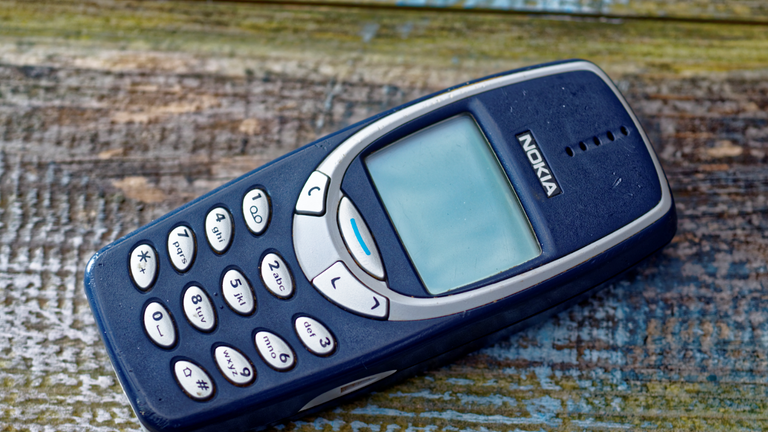 London, England - March 22, 2016: Nokia 3310 Mobile Phone, First Introduced in September 2000, It was one of Nokia's most successful models.