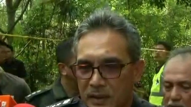 Malaysia police say a body has been found
