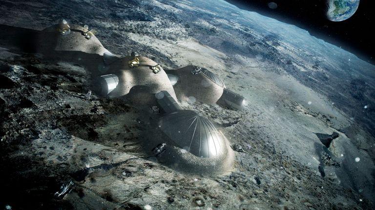 An idea for a future moon base. Pic: ESA