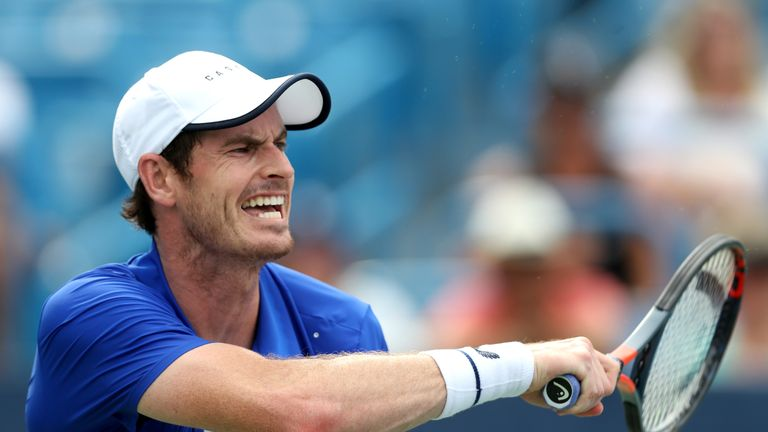 The first-round defeat in Cincinnati was Murray's first competitive singles match since his hip surgery