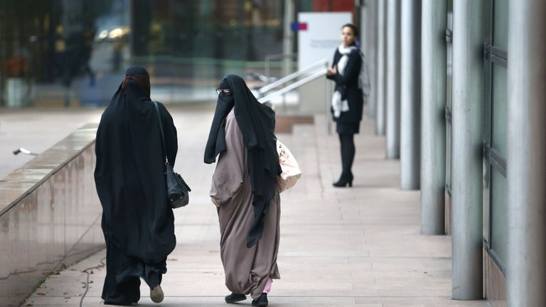 Women in the Netherlands are now banned from wearing face-coverings in hospitals, schools and on public transport