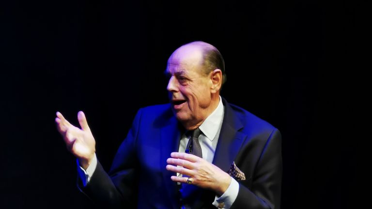 Sir Nicholas Soames during an interview with journalist Iain Dale at the Edinburgh Fringe Festival