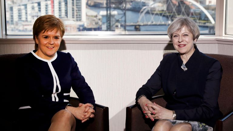 Nicola Sturgeon says she believed Theresa May found it difficult to converse outside of scripted conversation