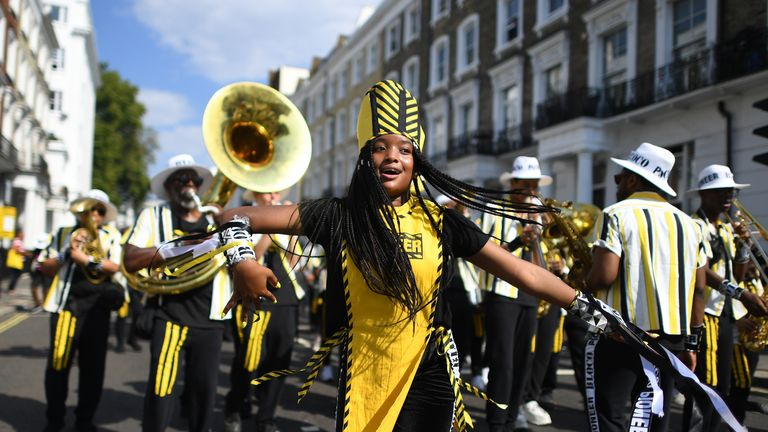 Revellers at this weekend's Notting Hill Carnival will have to cope with the high temperatures