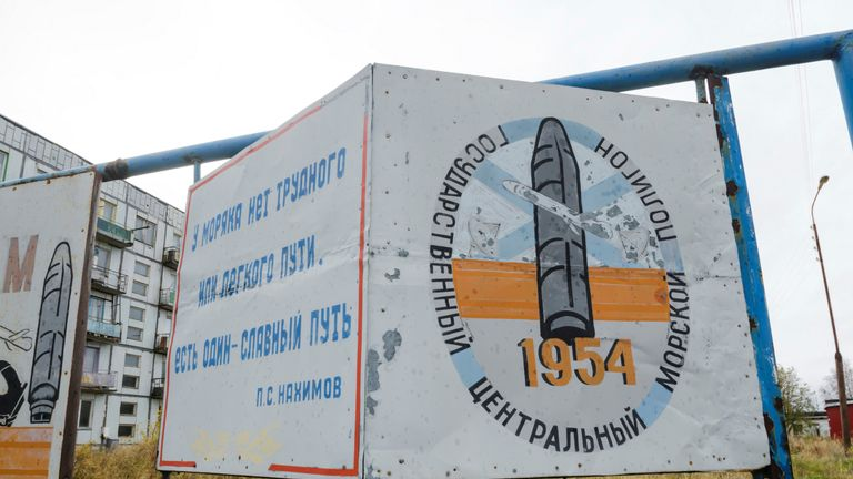 A military base in Nyonoksa where regular tests on cruise and ballistic missiles are carried out