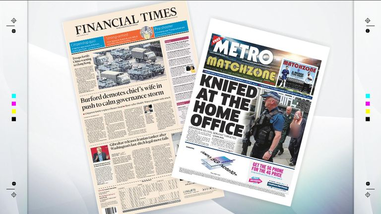 Friday's newspapers