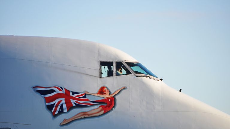 Virgin Atlantic featured pin-up girls on its planes for 35 years