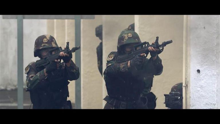China release 'anti-riot- video