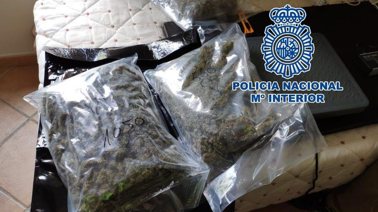 Drugs found by Malaga police. Pic: Policia Nacional