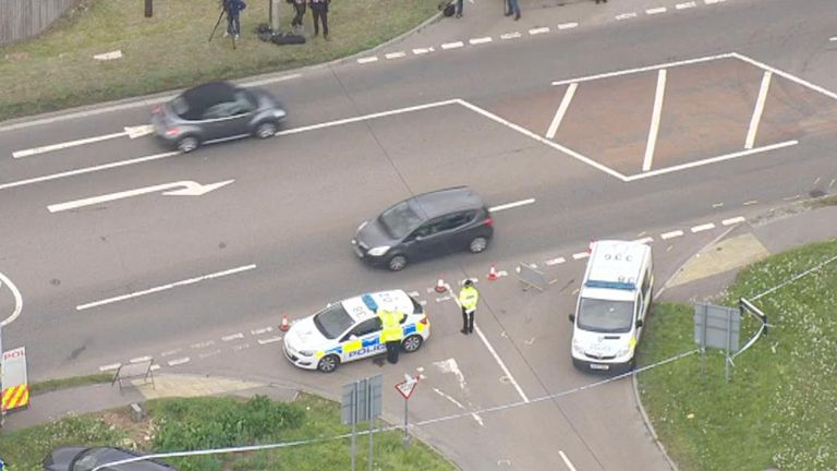 A murder investigation is launched after a police officer dies in Berkshire