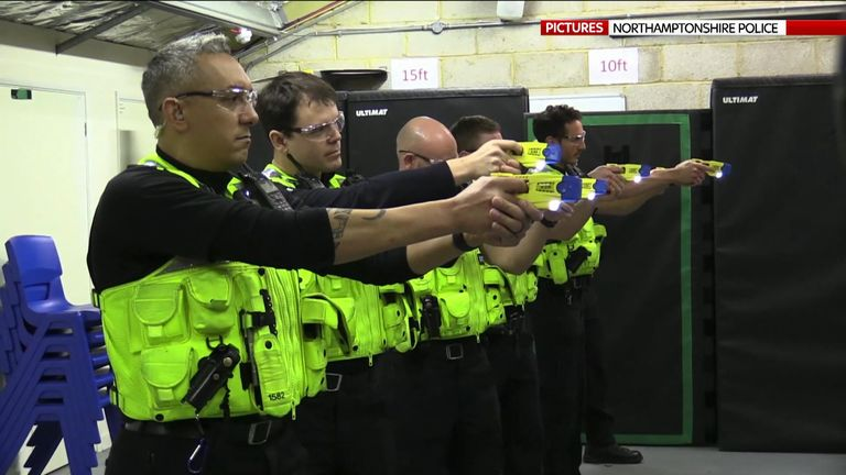 Police officers in Northamptonshire will be trained to use the weapons