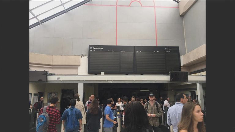 Stations were affected by the outage
