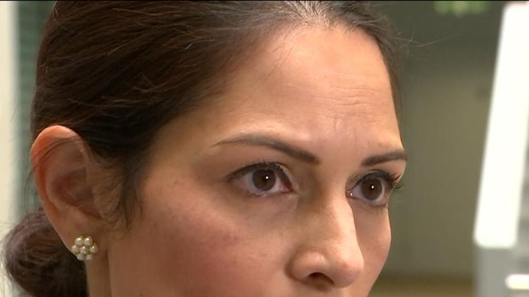 Priti Patel reacts to death of PC Andrew Harper