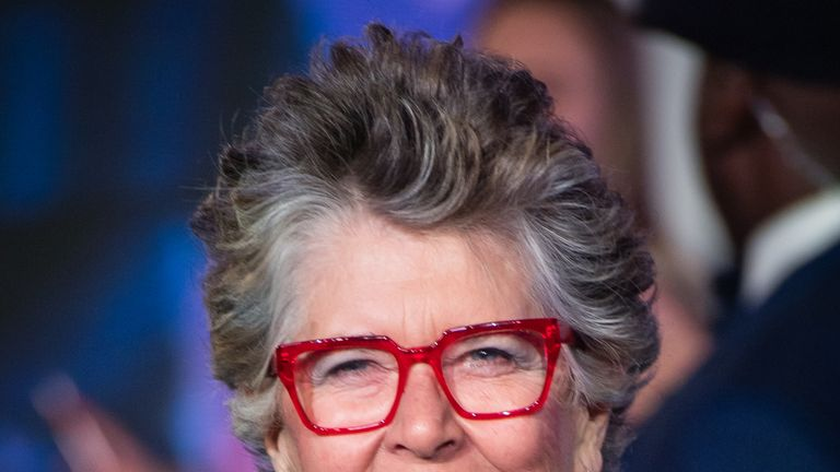 "Prue Leith attends the European Premiere of ""Mary Poppins Returns"" at Royal Albert Hall on December 12, 2018 in London, England"