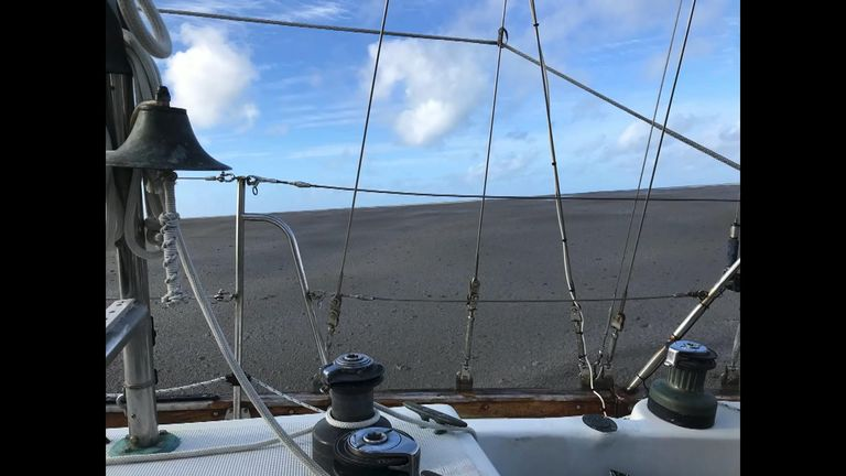 Shannon Lenz said she sailed through the pumice field for six to eight hours Pic: Shannon Lenz