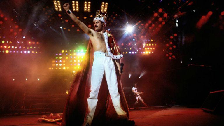 Queen at Wembley in 1986. Pic: Denis O'Regan