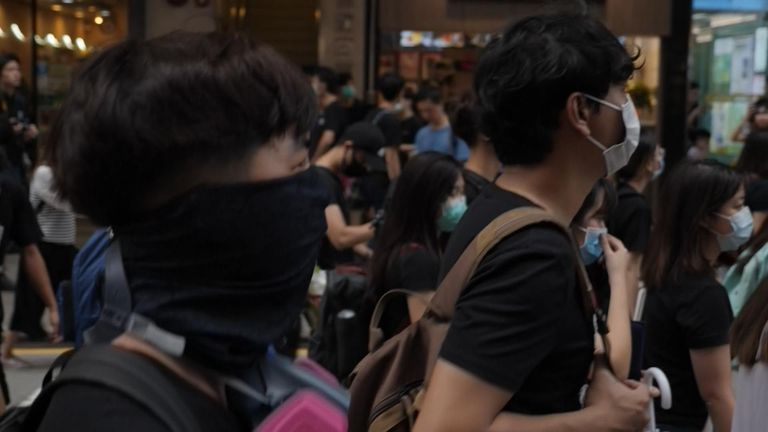 The eighth weekend of protests began on Saturday in Hong Kong