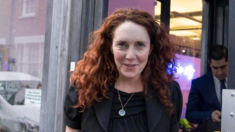 Rebekah Brooks Chief Executive of News UK leaves the offices of Unruly Media