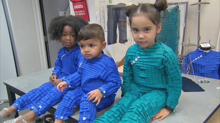 Children's clothing made from recyclable plastic