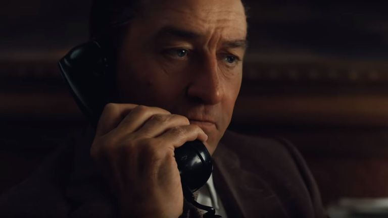 A digitally de-aged Robert De Niro in Martin Scorsese's The Irishman. Pic: Netflix/YouTube