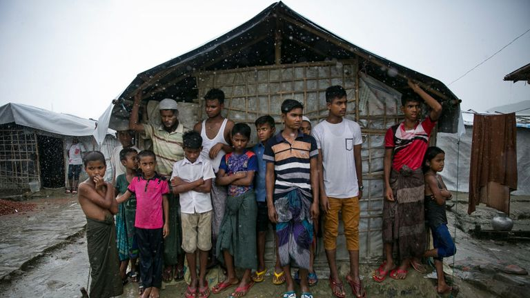 Hundreds of thousands live in large camps after fleeing Myanmar for Bangladesh