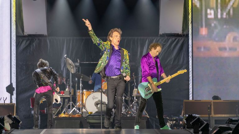 The Rolling Stones took to the stage at the Rose Bowl. Pic: NASA/JPL-Caltech