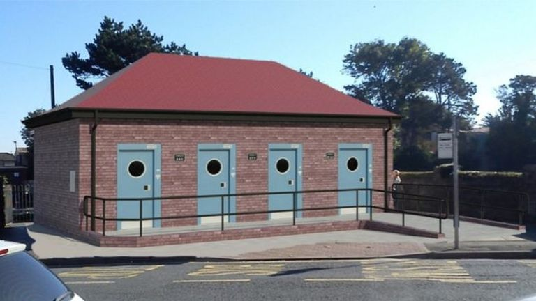 An artist's impression of how the new Griffin Park public toilets in Porthcawl, Wales, would have looked. Pic: RSC Architect