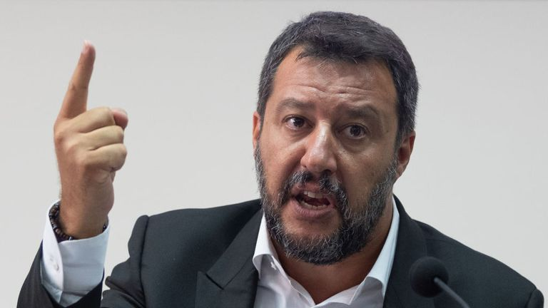Matteo Salvini says the ship is staying put to 'provoke me and Italy'