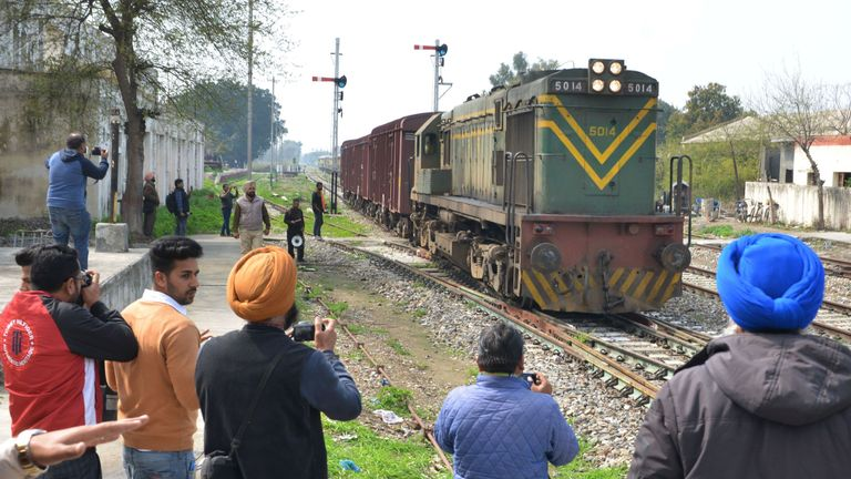 The train runs between New Delhi in India and Lahore in Pakistan