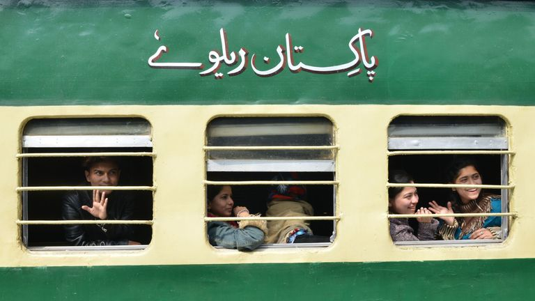 The train has been suspended following tensions over the region of Kashmir