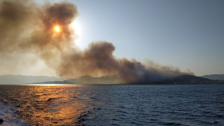 Wildfires on Samos Island, Greece