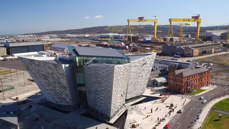 The shipyard's yellow cranes have been a feature of Belfast's skyline for decades