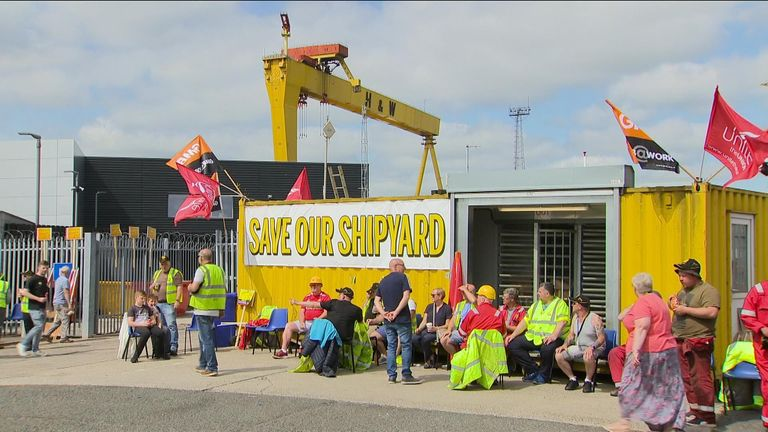 The Harland and Wolff shipyard in Belfast is expected to be placed into administration