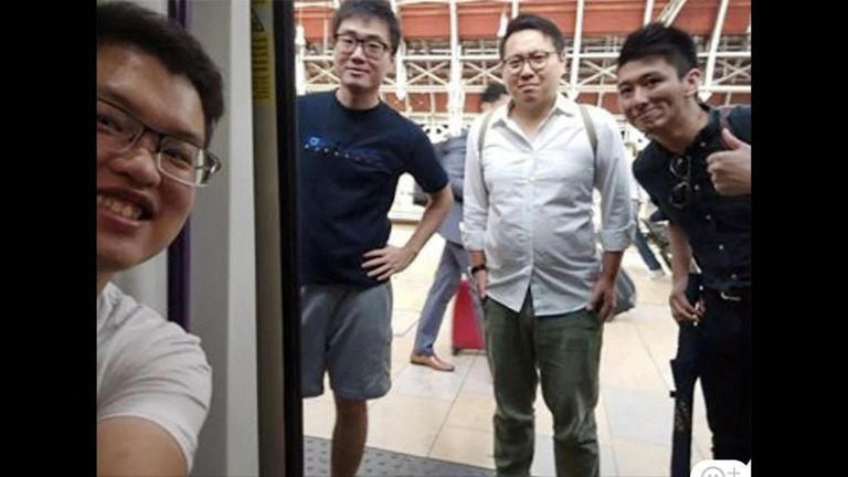 Simon Cheng Man-kit has been released after 15 days. Pic: Wilson Li/AP