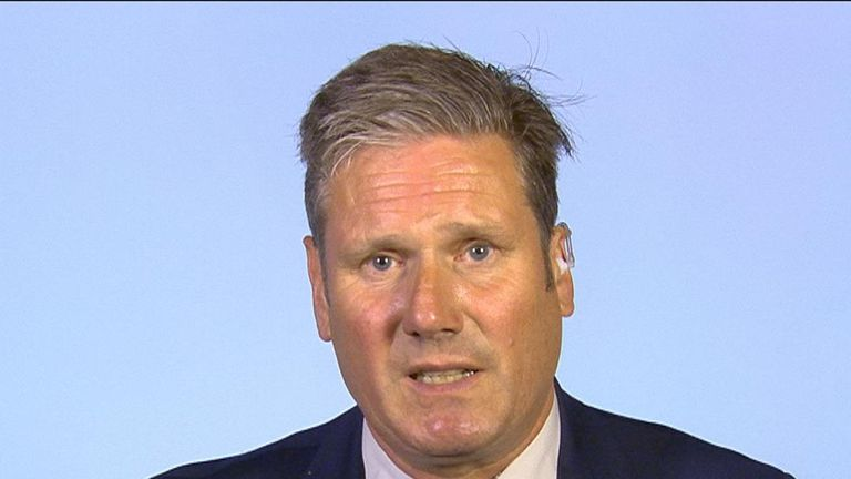 Sir Keir Starmer says there are options which need to be discussed for halting a no-deal Brexit