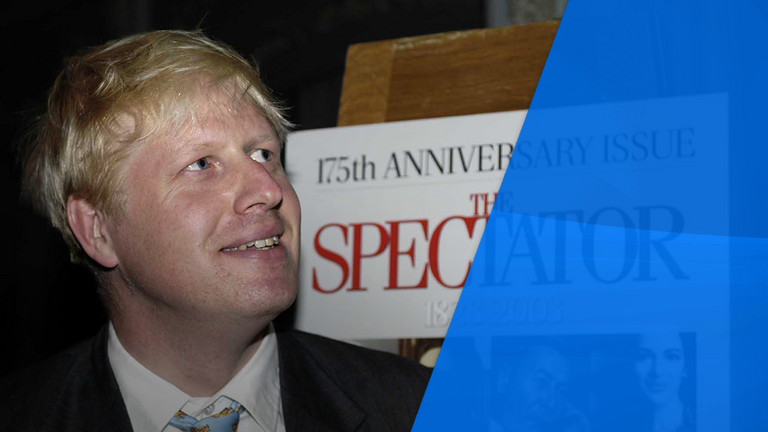 Mr Johnson was editor of The Spectator, as well as an MP in 2003