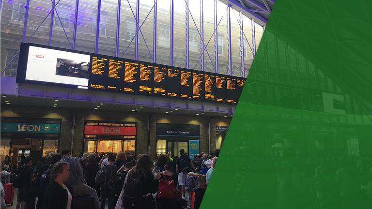 The outage caused travel chaos - especially at King's Cross