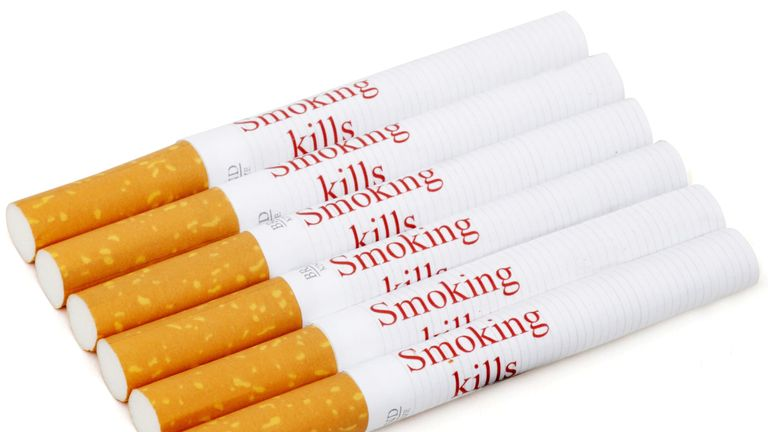 Health experts have suggesting adding 'smoking kills' messages to individual cigarettes