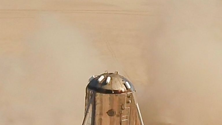 The craft has been affectionately compared to Star Wars mascot R2-D2. Pic: Elon Musk
