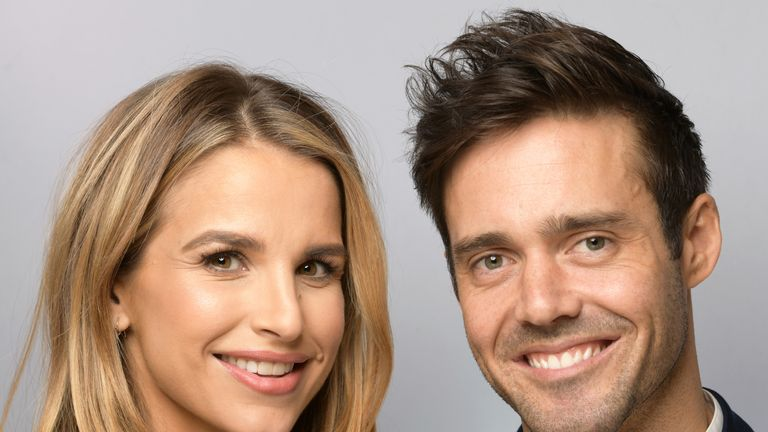 Vogue Williams (L) and Spencer Matthews at BBC Children In Need's 2018 appeal night at Elstree Studios on November 16, 2018 in Borehamwood