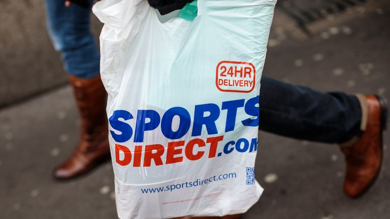 A Sports Direct bag