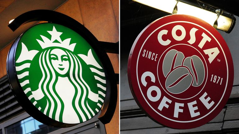 Starbucks and Costa are among the chains that charge for most plant milks
