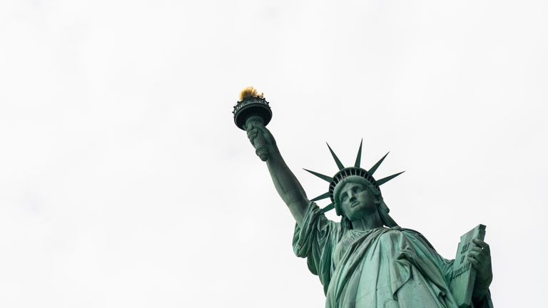 The Statue of Liberty has long been a symbol of America's historic acceptance of migrants