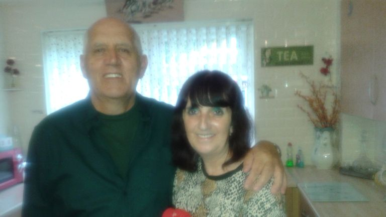 Mike and Carol Hunter who found Stephen the bling hedgehog