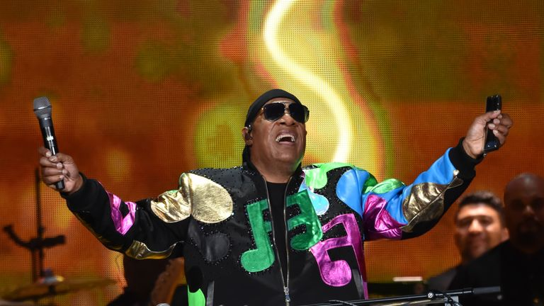 LONDON, ENGLAND - JULY 06: (EXCLUSIVE COVERAGE) Stevie Wonder performs on Day 2 of Barclaycard Presents British Summer Time Hyde Park at Hyde Park on July 6, 2019 in London, England. (Photo by Lester Cohen/Getty Images for Wonder Productions)