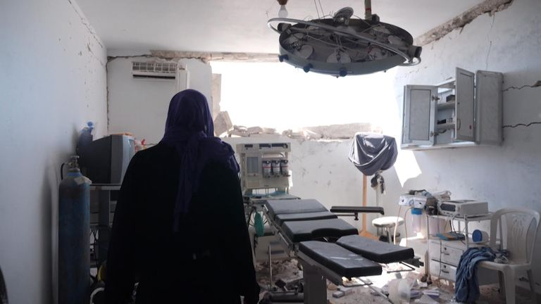 Sky News finds evidence the hospital was operational before it was bombed