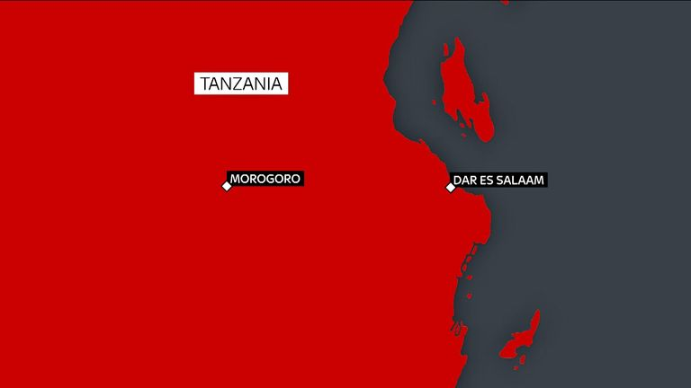The incident happened in Morogoro, west of the major city of Dar es Salaam
