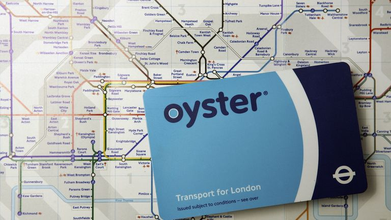 LONDON - JANUARY 16: In this photo illustration an Oyster travel card is displayed on a map of the London underground network on January 16, 2007 in London. The cost of travelling around the British capital is now the most expensive in the world with a rise of 33%. (Photo by Peter Macdiarmid/Getty Images)