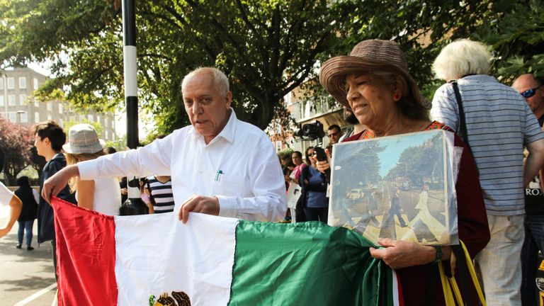 Rodolfo and Dolores Mata travelled from Mexico City to mark the anniversary. Pic: Dominic Hughes